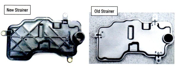 Subaru has changed its automatic transmission strainer from metal to resin composition.