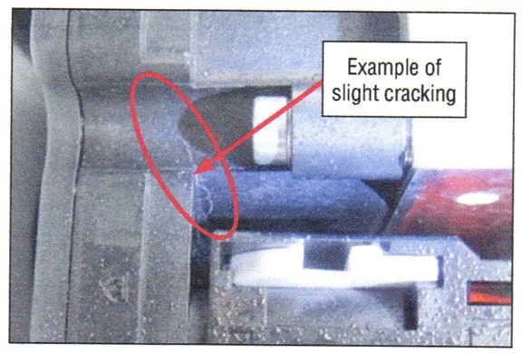 Shown here is an example of cover cracking.