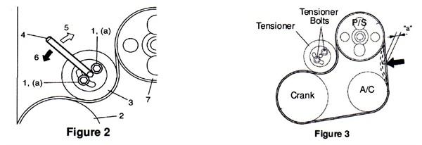 Power steering/AC belt drive