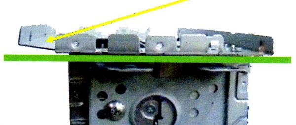 This example shows a bent frame which will prevent proper connection.