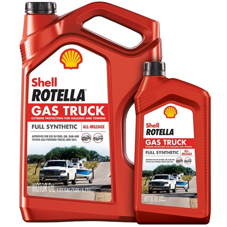 Shell Rotella Gas Truck full synthetic engine oil is designed to meet the demands of modern and older gasoline engines in pickup trucks and SUVs.