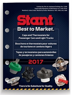 Stant Corp.'s new catalog for replacement caps and thermostats features applications for passenger cars and light trucks.