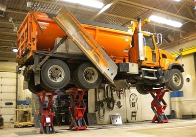 Stertil-Koni says the inground scissor EcoLift is is ideal for retrofit and existing workshop. It is relocatable.