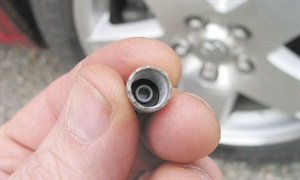 Never use just any valve cap that's lying around the shop. TPMS caps feature a sealing O-ring. The cap will typically be plastic. The use of brass or steel caps can result in radio wave interference and operational problems.