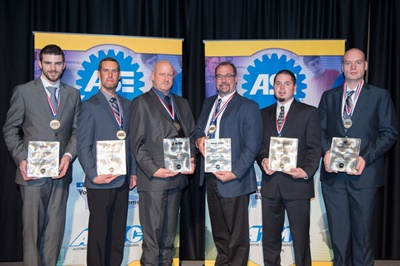 From left: Josh Kemmerer, David Winger, Terry Ueckart, Gary Wilson, Jason Trimble, Shawn Lemmons. The TBC employees have received ASE Technician of the Year honors.