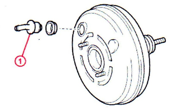 Replacing the brake booster check valve with the update part should reduce or eliminate the rattle/buzz noise.