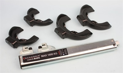 Sonic Tools' Canvik strut spring compressor's basic kit (model 120001) includes two sets of jaw sizes.