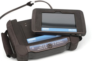 The wireless screen display easily slips out or snaps back into the main unit.