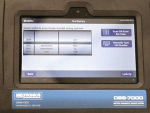 Functions allow you to easily select the vehicle by the year, make and model.