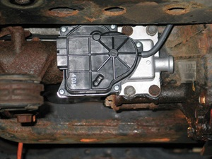 The problematic transfer case vacuum actuator is commonly prone to sticking if it's is not used frequently.
