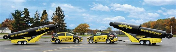 Tenneco has doubled its 'Shockmobile' fleet. Both mobile marketing vehicles will be at the2015 AAPEX show in Las Vegas Nov. 3-5.