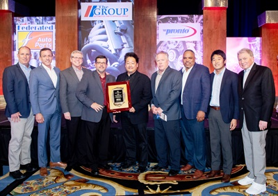 (Left to right): Steve Corey, David Arriaga and Jamie Nixon of Denso; Mike Mohler, The Group; Frank Choi, Steve Wellman, Rodney Whitlow and Masa Yamada of Denso; and Roy Kent, The Group.