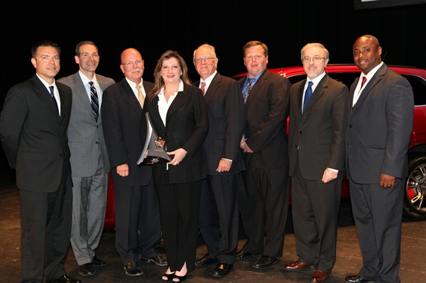 Pictured from left to right: Tom Finelli, Head of Purchasing at Chrysler Electrical Group; Scott Kunselman, SVP, Purchasing and Supplier Quality, Chrysler Group LLC.; James Finley, President and CE, TRICO Products; Margaret Kubasiak, VP Business Development; James Wiggins, Chairman TRICO Products; Dave Parker, Global Business Unit Director; Vilmar Fistarol, Head of Group Purchasing, Chrysler Group LLC.; Mike Terrell Jr., Procurement Specialist, Chrysler Group LLC.