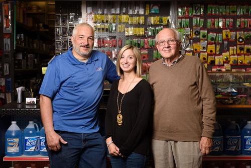 Left to right: Owner Frank Palange, Vice President Nicole Palange and original co-founder Vincent Palange.