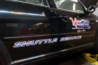 The shop provides a shuttle service for customers when required.