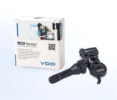The VDO REDI-Sensor TPMS sensor snaps together without any threaded components. It is available in a rubber snap-in stem version.