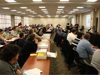 Vehicle Service Group (VSG), welcomed 75 lift inspector candidates to Madison, Ind., last week for factory training.