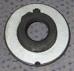 Previous galvanized rear spring plate.