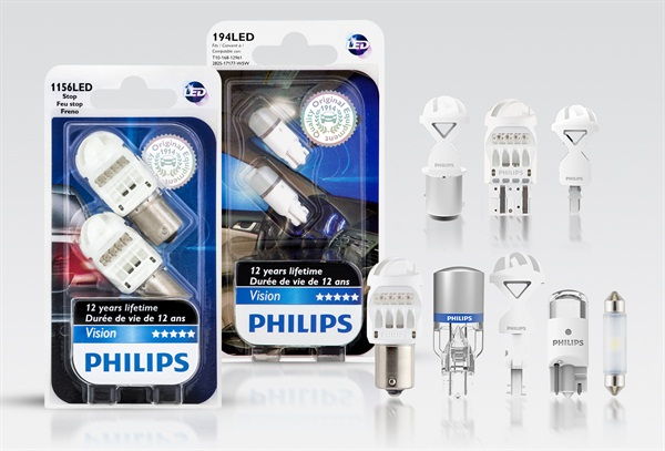 Philips says it is first to market with street legal exterior LEDs.