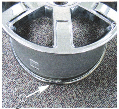 Example of typical bead seat corrosion area.