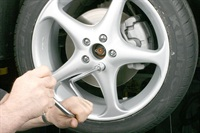 Yes, it's more time-consuming, but when installing alloy wheels, do not use an impact gun. Install the fasteners by hand using a speed wrench, fully snugging each. Final-tighten using a torque wrench.