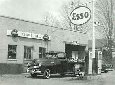 Back in the 1950s, the shop also served as the town's filling station.