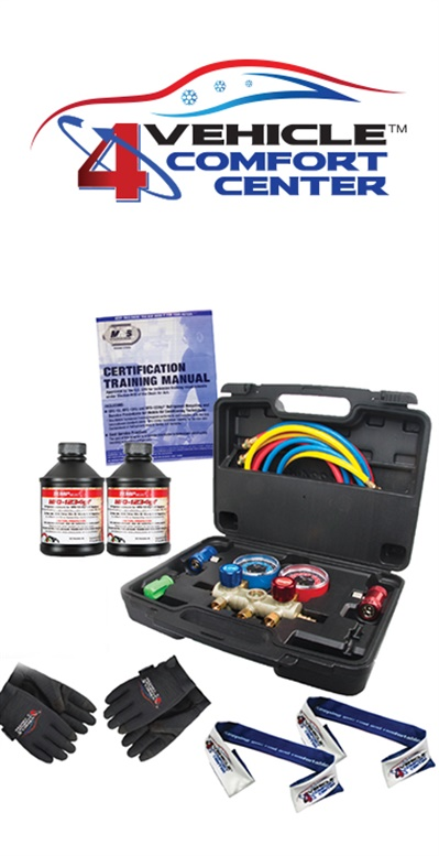 Each Vehicle Comfort kit contains the items needed to transition to R1234yf refrigerant and three ways to receive a total of 10 entries to win a Mahle ArcticPro R1234yf refrigerant machine.
