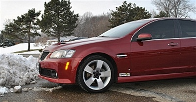 XPEL Ultimate is a virtually invisible urethane film designed to prevent winter driving damage to paint.