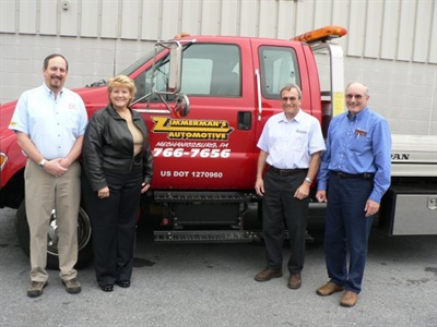 Zimmerman's Automotive is a family business, including (left to right), Jeff Walter, Judy Zimmerman Walter, Paul Zimmerman and Jay Zimmerman.