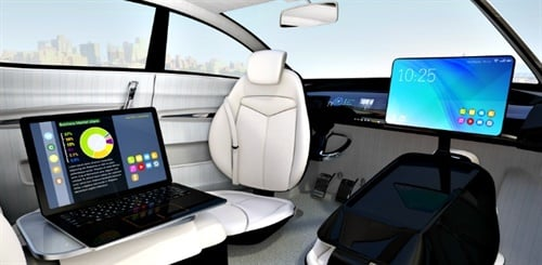 Data from a survey by insuranceQuotes.com says 37% of Americans would consider owning or leasing a self-driving vehicle in the future. Photo courtesy of insuranceQuotes.com.