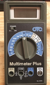 Figure 1: DVOM-OTC digital volt ohm meter.