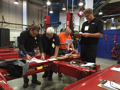 """Nearly 100 people worked toward Automotive Lift Institute (ALI) Lift Inspector Certification during the """"Five Days to Victory"""" event held in Las Vegas Nov. 1-5, 2015."""
