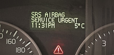 Most customers will bring in their vehicle for diagnostics if the warning light says there is an airbag issue.