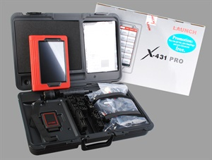 An example of the latest in scan tools is Launch Tech's new X431 Pro, a fast Android tablet with access to third-party apps, featuring a bright 8-in. hi-res touch screen. The unit boasts complete vehicle coverage, powerful test functions, fast live data and graphing, including a new powerful Bluetooth VCI allowing for a wired OBD II experience in a wireless device. Photo courtesy of LaunchTech