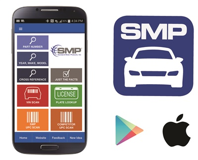 The newly released SMP Parts App 2.0 features an array of new tools to make part lookups even easier.