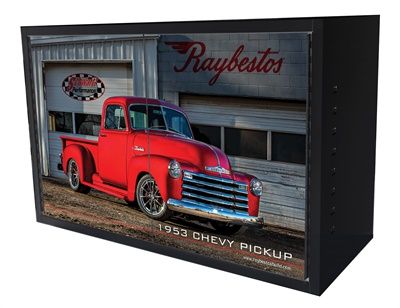There is an option to purchase the Raybestos branded cabinet with six sets of Element3 EHT Enhanced Hybrid Technology or Element3 PG Professional Grade brake pads.