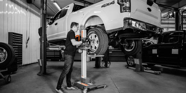 Martins Industries says the Power Lifter enables technicians to change the tires on a passenger...