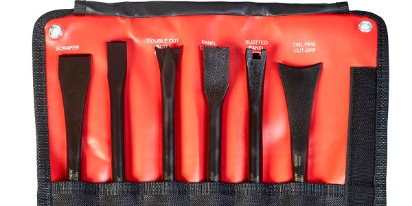 Mayhew says the tools in the new 6-piece non-turning pneumatic tool set lock into place for back...