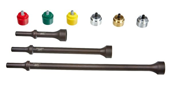 Mayhew's new 9-piece pneumatic replaceable tip hammer set has three replaceable tip hammer...