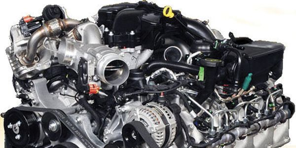 Shown above is the Ford Powerstroke 6.0L, featured in 2003-2009 vehicles. Photo courtesy Ford...