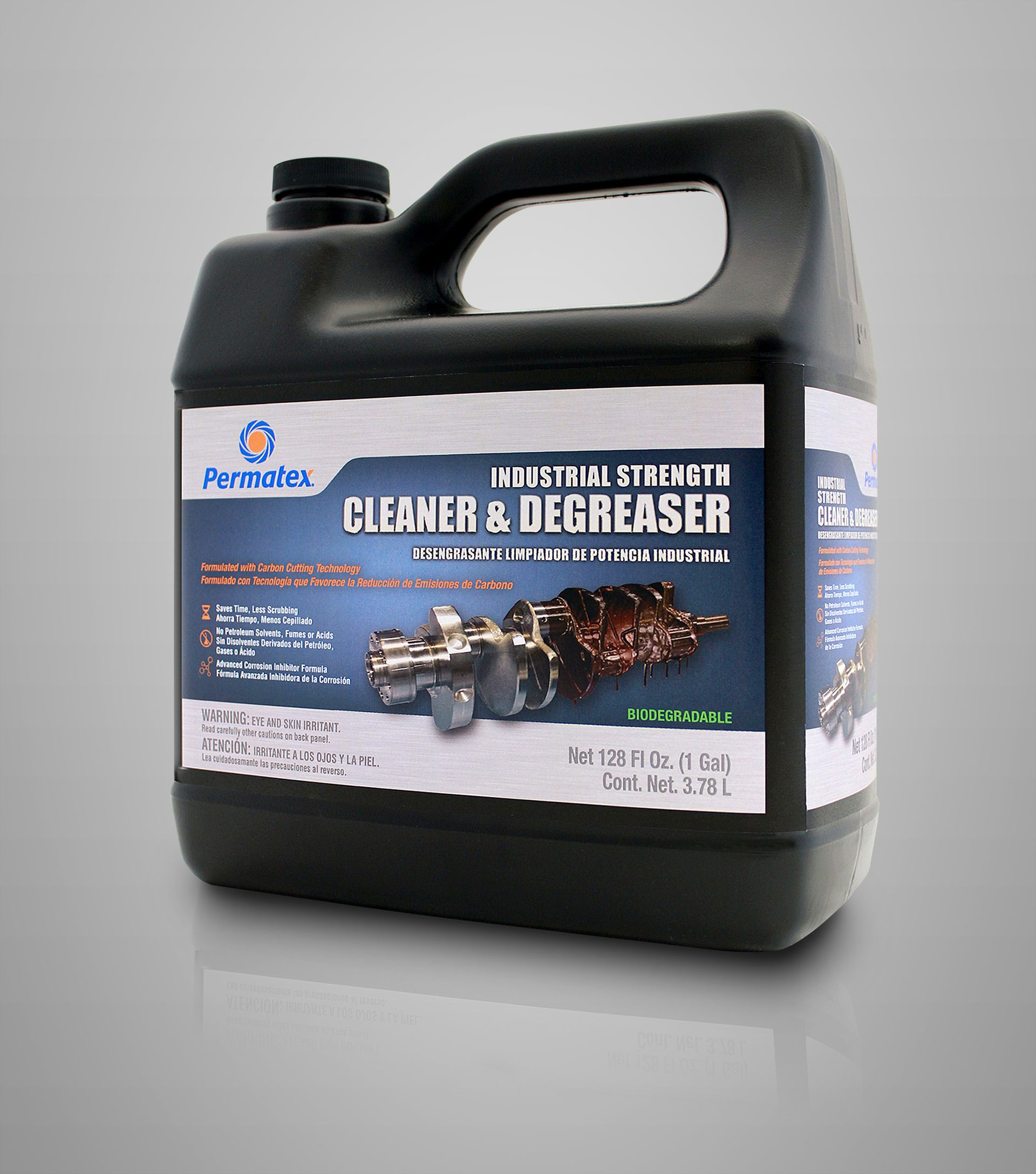 Permatex Industrial Strength Cleaner and Degreaser Is Biodegradable