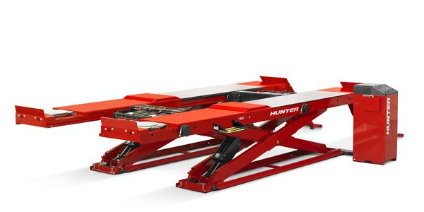 Hunter Engineering's standard RX scissor lift racks are now available with a zinc primer base...