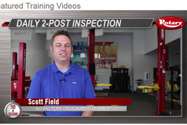 Rotary Lift: 2-Post Daily LIft Inspection