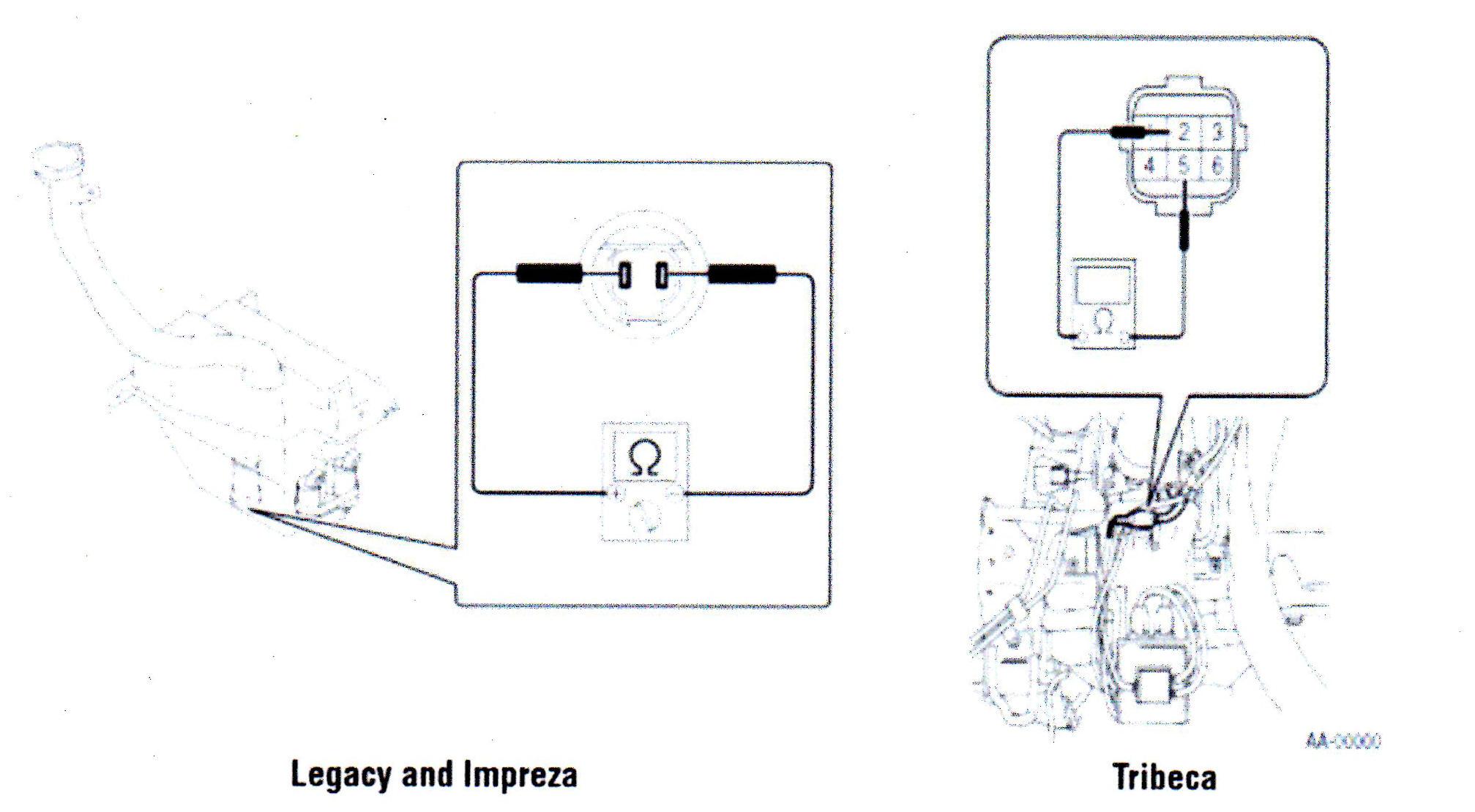 Subaru washer level sensor