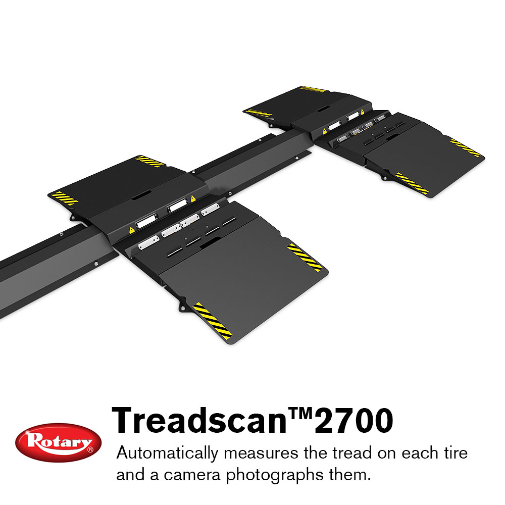 Rotary Introduces TreadScan 2700 Tire Tread and Alignment Measuring System