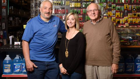 Left to right: Owner Frank Palange, Vice President Nicole Palange and original co-founder...