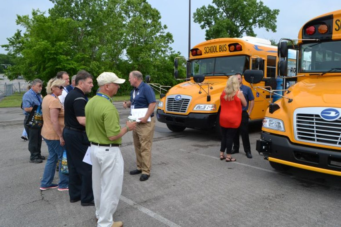 "Blue Bird invited customers to ride and drive its latest school buses at a ""Product Immersion..."