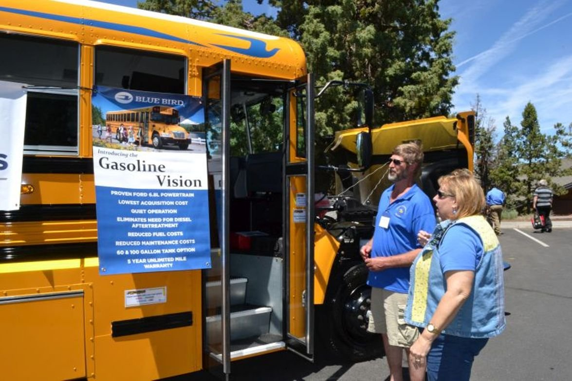 Attendees at the Oregon Pupil Transportation Association (OPTA) 2017 conference check out Blue...