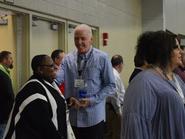 On Tuesday, NAPT Executive Director Mike Martin greeted attendees as they entered the...