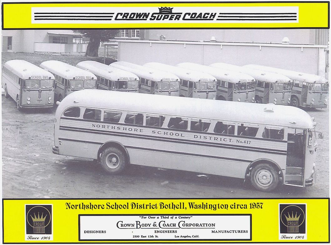 Another shot from Connie Noll shows Northshore School District buses from 1957.